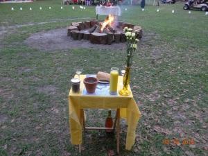 Western Altar Before Ritual